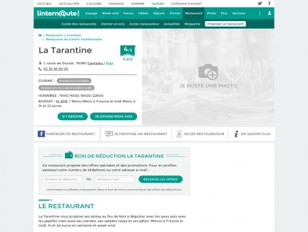 La Tarantine, restaurant de cuisine...