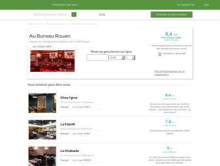 Réservation Restaurant | au-bureau-rouen.lafourchette.com