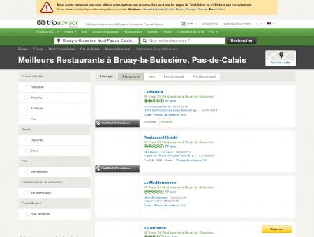 Les 10 meilleurs restaurants à Bruay-la...