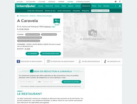 A Caravela, restaurant de cuisine traditionnelle...