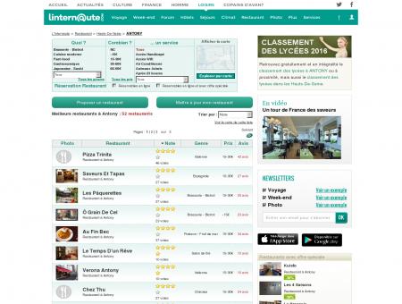Restaurant Antony : Le guide des meilleurs...