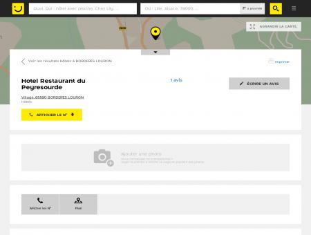 Hotel Restaurant du Peyresourde Bordères...
