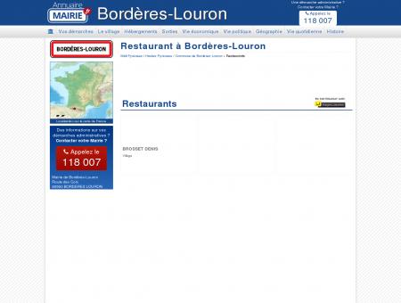 Restaurant Bordères-Louron, la Mairie de...