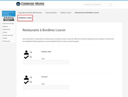 Restaurants à Bordères Louron (65590) -...