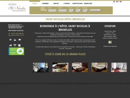 Bienvenue à l'Hôtel Saint Nicolas à Bruxelles