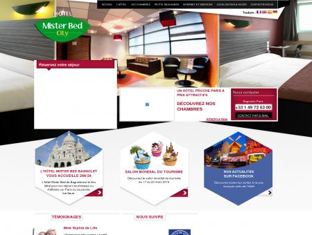 Hotel Mister Bed city bagnolet 93 -(Paris-IDF)...