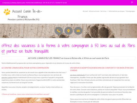 Hotel pour chien 78 - ACCUEIL CANIN D'ILE...