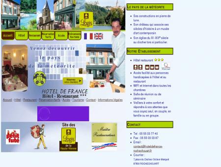 l'Hotel de France, hotel restaurant à...