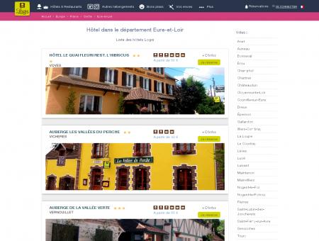 Hôtel dans l'Eure-et-Loir. Restaurants logis...