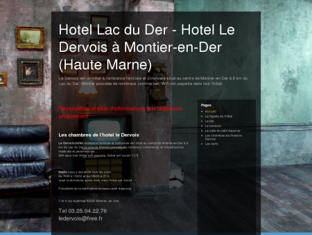 Hotel Lac du Der - Hotel Le Dervois à Montier...