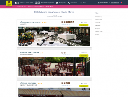 Hôtel dans la Haute-Marne. Restaurants logis...