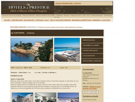 Hotel Le Cap Estel Monaco Hotel Provence...