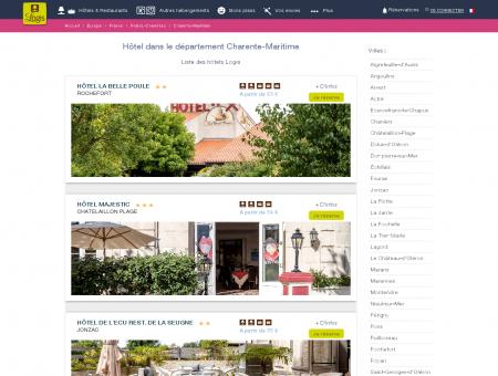 Hôtel dans la Charente-Maritime. Restaurants...