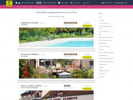 Hôtel dans le Loir-et-Cher. Restaurants logis...