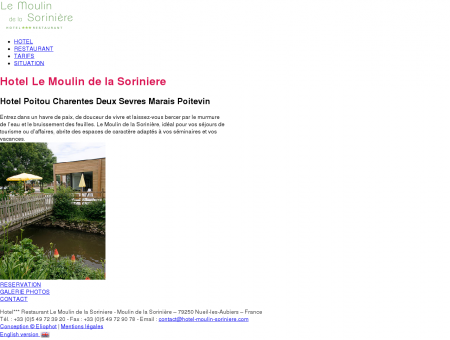 Hotel Le Moulin de la Soriniere Hotel Poitou...