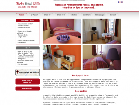 Appart Hotel Lille, location appartements...