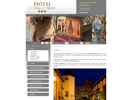 L'Hôtel - Hôtel l'Abbaye d'Alspach : hôtel de...