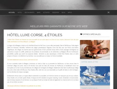 Hotel Calvi Corse : Hôtel Chez Charles 4 étoiles