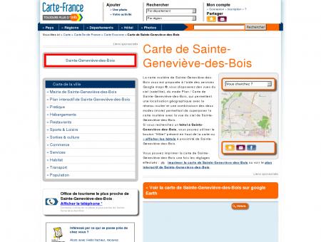 Carte et plan de Sainte-Geneviève-des-Bois...