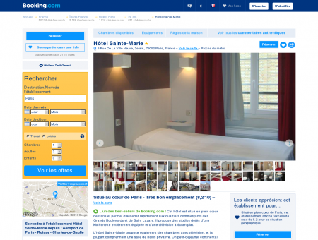 Booking.com: Hôtel Sainte-Marie - Paris, France