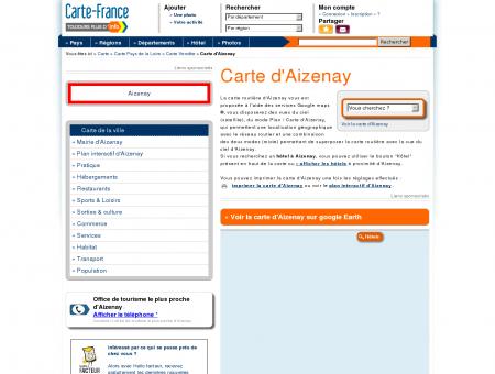 Carte et plan d'Aizenay 85190 : Hôtel, tourisme ...