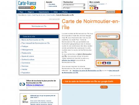 Carte et plan de Noirmoutier-en-l'Île 85330 :...