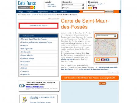 Carte et plan de Saint-Maur-des-Fossés 94100...