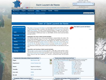 SAINT-LAURENT-DE-NESTE - Map of Saint-Laurent-de-Neste ...