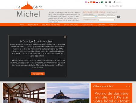 Hotel de charme Le Saint Michel - Vue rocher...
