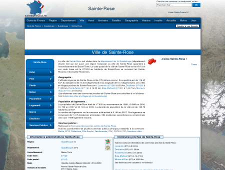 SAINTE-ROSE - Carte plan hotel ville de Sainte...