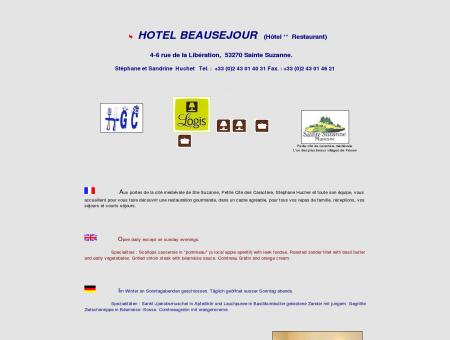 A l'HOTEL BEAUSEJOUR SAINTE SUZANNE....