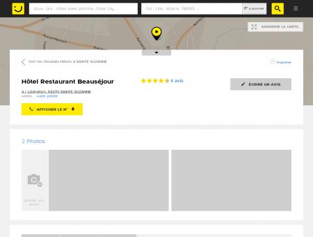 Hôtel Restaurant Beauséjour Sainte Suzanne...