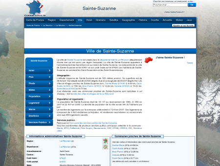 SAINTE-SUZANNE - Carte plan hotel ville de...