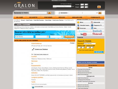 Hotel Bellevue Ax-les-thermes - Gralon : Guide...
