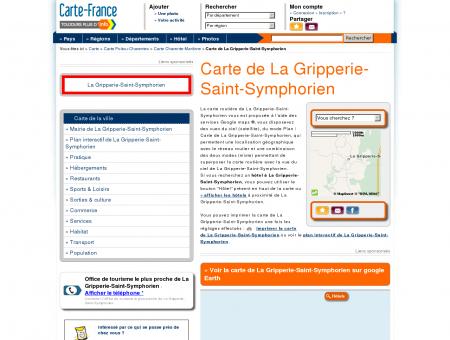 Carte et plan de La Gripperie-Saint...