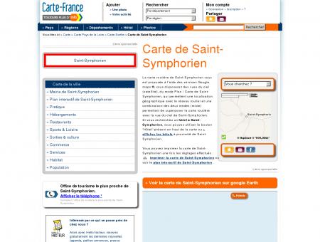 Carte et plan de Saint-Symphorien 72240 :...