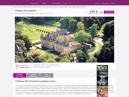 Hôtel Château d'Esclimont, hôtel de charme...