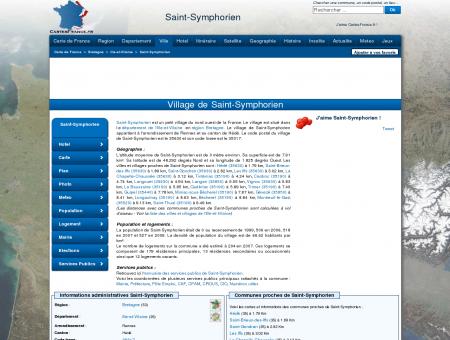 SAINT-SYMPHORIEN - Carte plan hotel village...