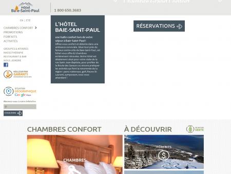 Hôtel Baie Saint-Paul | Une halte confort dans...