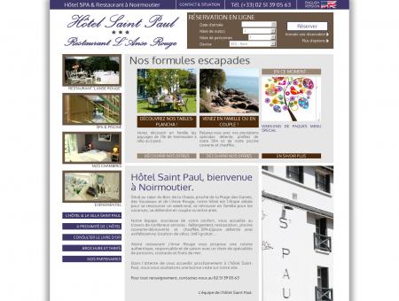 Hôtel Saint-Paul 3 étoiles à Noirmoutier...