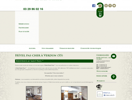 Nos services / Hôtel pas cher 55 / HOTEL...