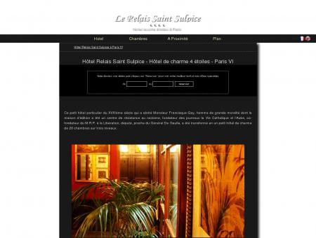 Hôtel de charme Relais Saint Sulpice 4 étoiles ...