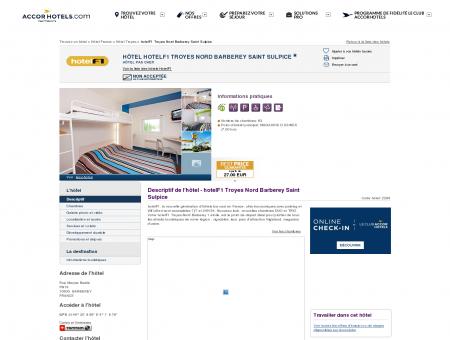 Hôtel hotelF1 Troyes Nord Barberey Saint...