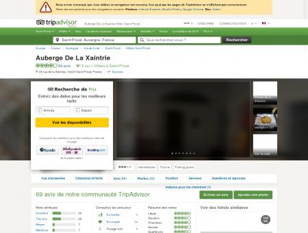 Auberge De La Xaintrie Hotel (Saint-Privat) :...