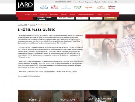Site officiel de l'Hôtel Plaza Québec - Accueil de...