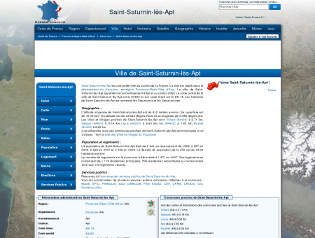 SAINT-SATURNIN-LES-APT - Carte plan hotel...