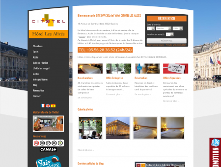 Hotel les Alizés Bordeaux - SITE OFFICIEL -...
