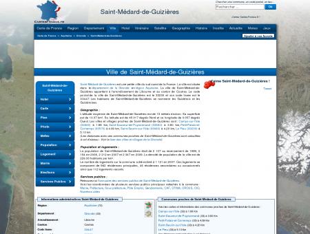 SAINT-MEDARD-DE-GUIZIERES - Carte plan...