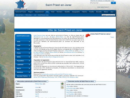 SAINT-PRIEST-EN-JAREZ - Carte plan hotel...