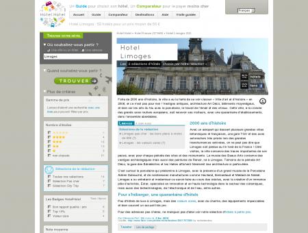 Hotel Limoges : 49 hotels pour un prix moyen...